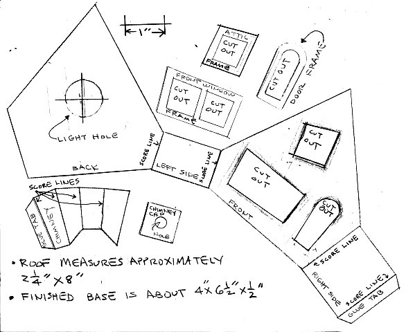 building a vintage style cardboard halloween house howard s how Door Frame Parts double click on this image to see a higher resolution pattern