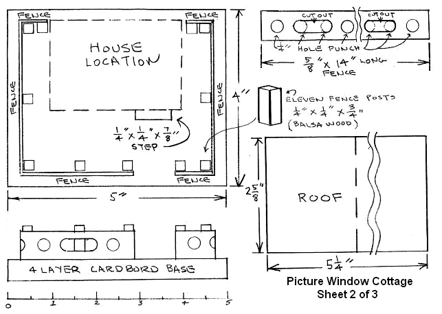 Building a Bay Window House   Howard    s How To    s  from    Click on this image to see a higher resolution pattern