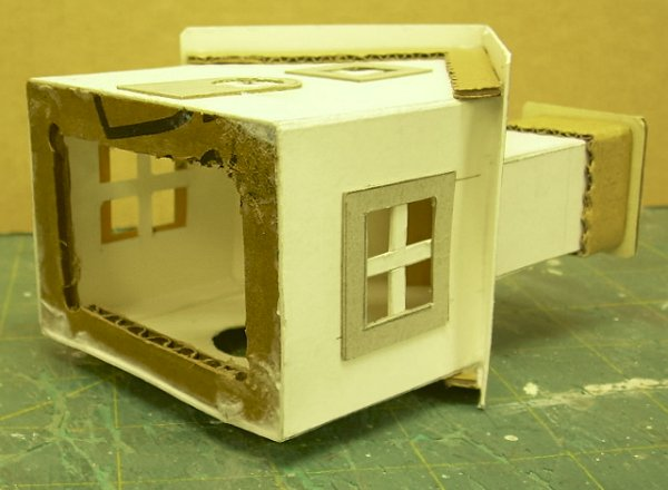 This Sub Base Made Of Corrugated Cardboard Provides A Little More Strength  To The House ...