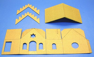 Building the pine mountain valley synagogue a howard 39 s for How to make paper temple